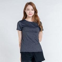올시즌 스트레치 우먼 티셔츠 DTF0S-3008 멜란지 그레이
