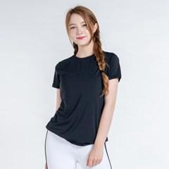 올시즌 스트레치 우먼 티셔츠 DTF0S-3008 블랙