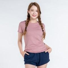 올시즌 스트레치 우먼 티셔츠 DTF0S-3008 핑크