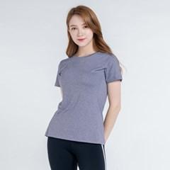 올시즌 스트레치 우먼 티셔츠 DTF0S-3008 바이올렛