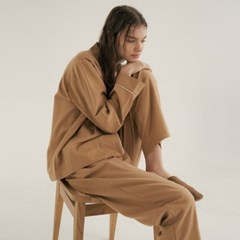 (w) Camel Pajama Set