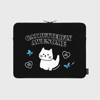 Awesome cat-black-13inch notebook pouch(13인치 노트_(1655910)