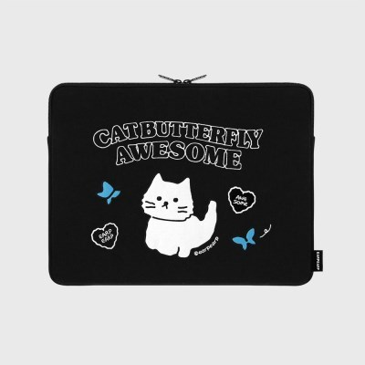 Awesome cat-black-13inch notebook pouch(13인치 노트북파우치)