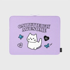 Awesome cat-purple-13inch notebook pouch(13인치 노트_(1655909)
