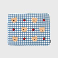 Dot strawberry check-blue-13inch notebook pouch(13인_(1655908)