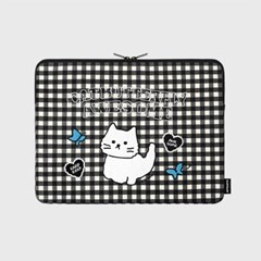 Awesome cat check-black-13inch notebook pouch(13인치_(1655906)