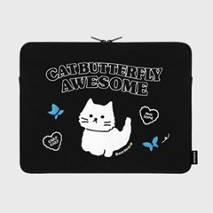 Awesome cat-black-15inch notebook pouch(15인치 노트북 파우치)
