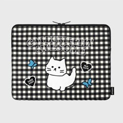 Awesome cat check-black-15inch notebook pouch(15인치_(1655901)