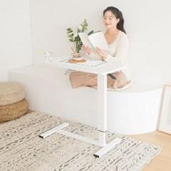 밸런스 화이트 높이조절 책상 노트북 테이블