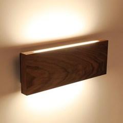 LED 벽등 리니어 우드 월넛 애쉬 13W 홈 카페 매장조명_(1955131)