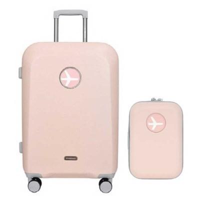 비아모노 마카롱 핑크 20인치 확장형 캐리어 여행가방