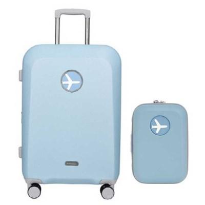 비아모노 마카롱 블루 20인치 확장형 캐리어 여행가방