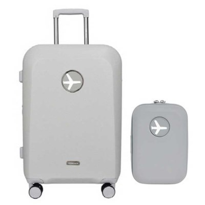 비아모노 마카롱 그레이 20인치 확장형 캐리어 여행가방