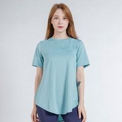 이지 롱 반팔 티셔츠 DTF0S-3011 스카이