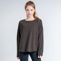 데일리 루즈핏 긴팔 티셔츠 DTF0S-4073 브라운
