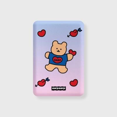 Gradation bear heart-blue/purple(무선충전보조배터리)_(1660156)