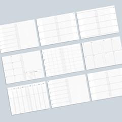 데이스테이션 A5 20공 리필 속지 주간계획표 위클리 플래너