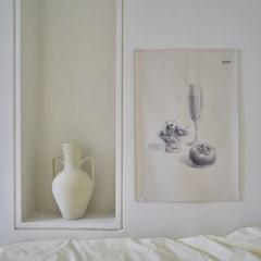 소묘 드로잉 패브릭 포스터 / 가리개 커튼