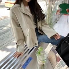 [모어댄베러]감성 사파리 야상숏점퍼