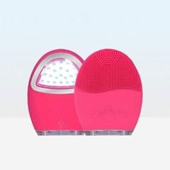 LED 실리콘 진동 클렌저 전동 세안기