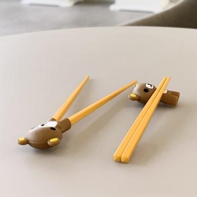 유아 아동 성인 연습용 교정용 곰돌이 실리콘 젓가락 10color