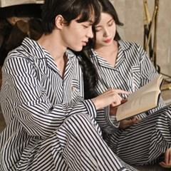 루즈핏 고밀도 순면 커플 잠옷 홈웨어 세트