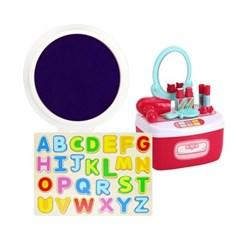 [캐스B] 잉크패드파랑+뷰티화장대+알파벳입체퍼즐