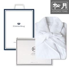 송월타월 호텔 30수 샤워가운 1매 세트(화이트)