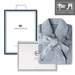 송월타월 호텔 30수 샤워가운 1매 세트(그레이)