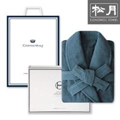 송월타월 호텔 40수 샤워가운 1매 세트(애쉬그린)