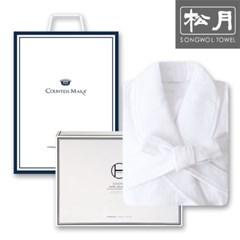 송월타월 호텔 40수 샤워가운 1매 세트(화이트)