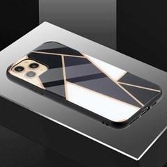 아이폰12 유니크 패턴 글라스 범퍼 하드 케이스 P458_(3283552)