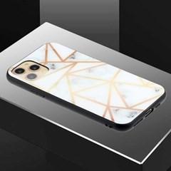 아이폰12맥스 유니크 패턴 글라스 하드 케이스 P458_(3283551)