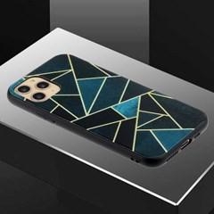 아이폰12프로 유니크 패턴 글라스 하드 케이스 P458_(3283550)