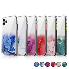 아이폰12프로맥스 마블 패턴 심플 젤리 케이스 P448_(3283545)
