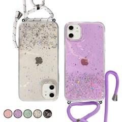 아이폰6S 반짝이 글리터 스트랩 젤리 케이스 P552_(3283531)