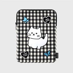 Awesome cat check-black(아이패드 파우치)_(1659391)