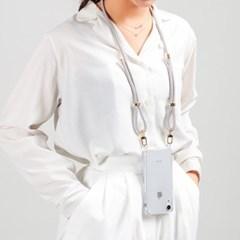 지현 핸드폰 스트랩 핸드폰줄 케이스 골드(삼성케이스- S 시리즈)