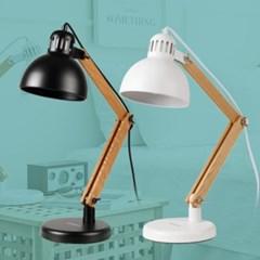 LED 데스크램프 피노 우드 1등 블랙 화이트 E26 카페 매_(1959876)