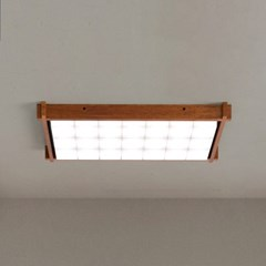 LED 주방등 우드 블록 스타크 3X7 멀바우 멀바우브라운_(1959874)