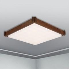 LED 방등 우드 블록 스타크 6X6 멀바우 멀바우브라운 애_(1959873)