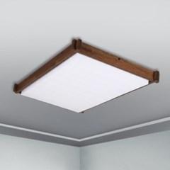 LED 직사각 거실등 우드 블록 스타크 5X9 멀바우 멀바우_(1959872)