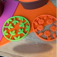 국내생산 100% 플래티늄 실리콘 2way 투웨이 냄비받침 2color
