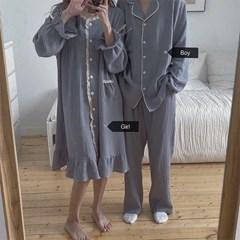 그레이 요루면 커플 잠옷