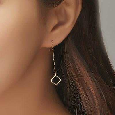 예노 14K 롱 체인 귀걸이
