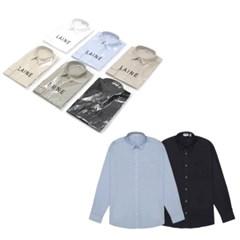 가을 남성 루즈핏 캐쥬얼 면 포켓 무지 컬러 셔츠 남방
