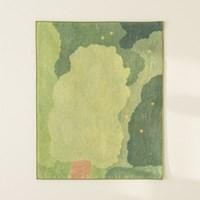 serenity green 패브릭 포스터