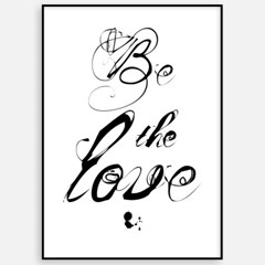 신혼집 거실 북유럽 인테리어 액자_BE THE LOVE