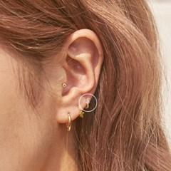 14K 큐빅 버블 미니 링 귀걸이 (한쪽)