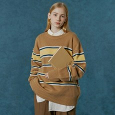 Small original logo stripe knit-camel_(1663148)